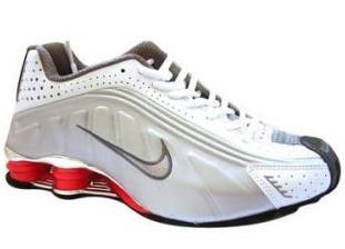 separation shoes 24afe 3f454 ... Store Mix Nike shox R4 Cromado Branco, Prata e Vermelho ...