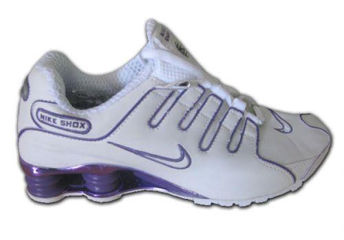 ea28b0d5205 ... Store Mix Nike shox NZ Cromado Branco e Lilás ...